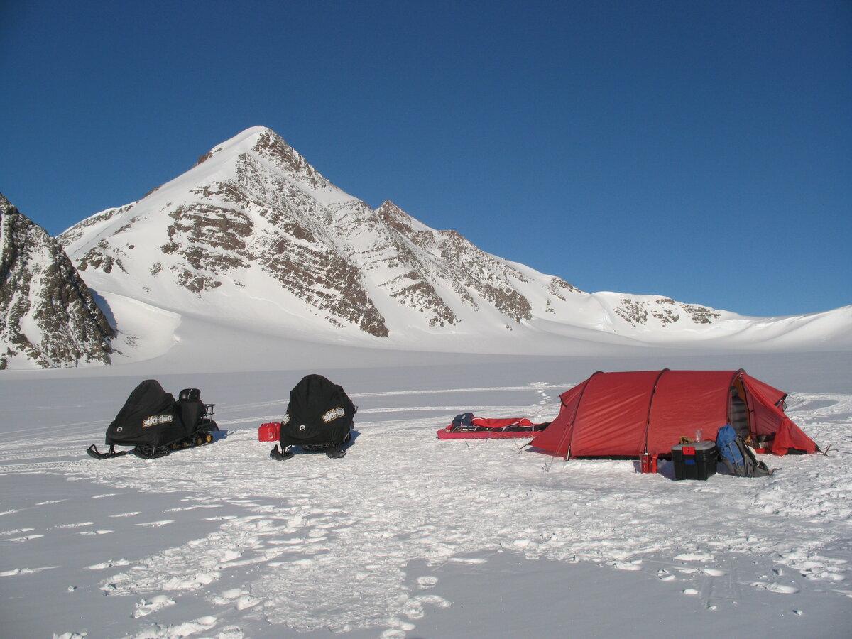 Climb Antarctica base camp set up below 'West Pyramid' peak