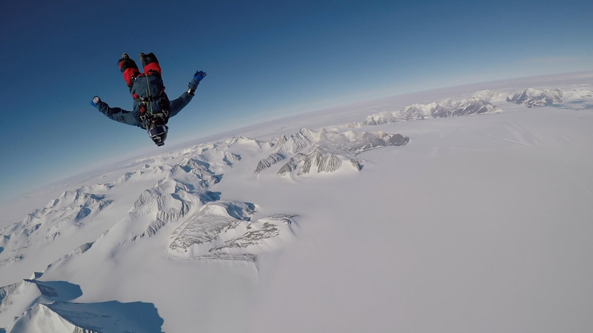 Skydiving over the Southern Ellsworth Mountains