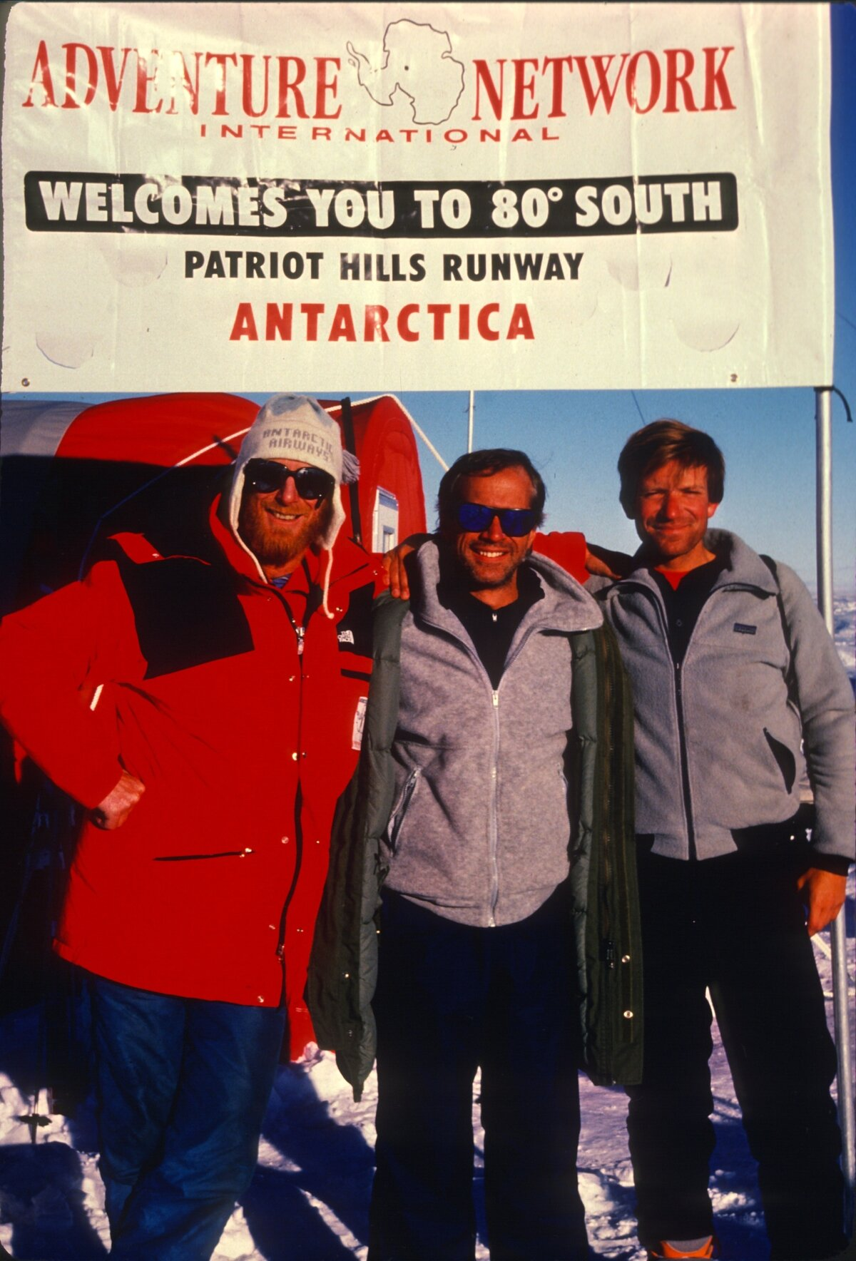 ANI co-founder Martyn Willams at Patriot Hills Camp, c.1988