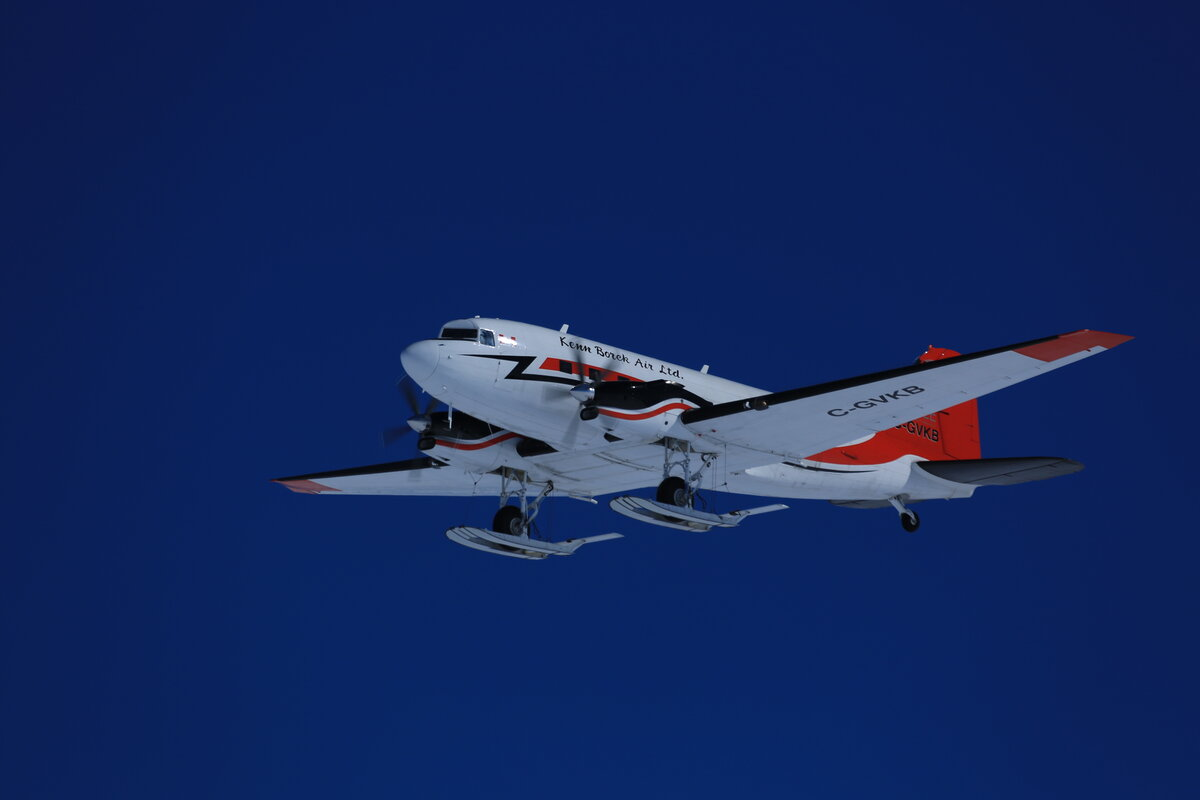Basler BT-67 in the air