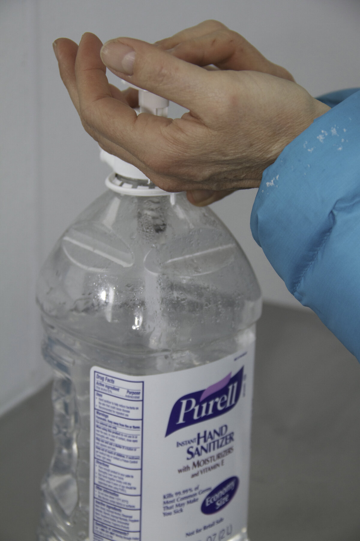 Sanitizing gel is available throughout camp to prevent germs