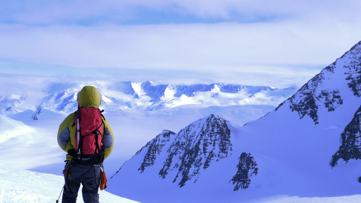 Admiring the view of the Heritage Range
