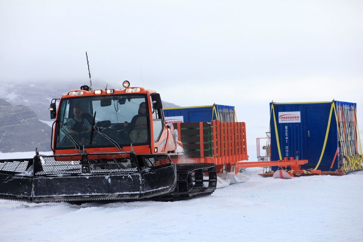 Hauling loads in a whiteout