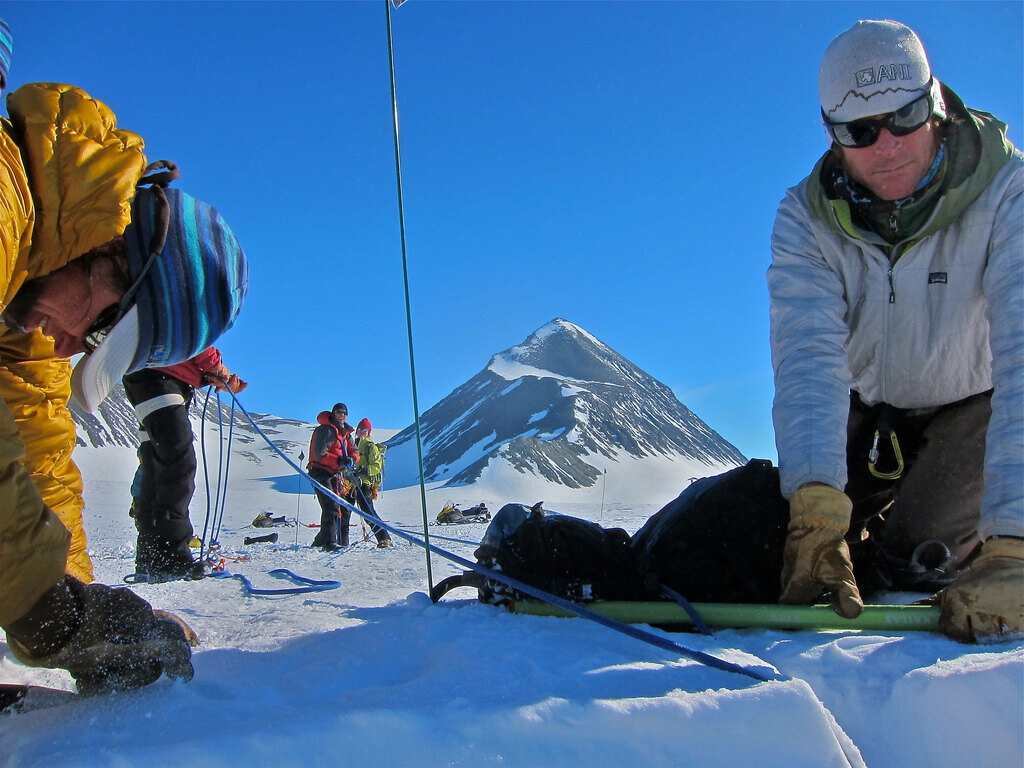 Teaching crevasse rescue