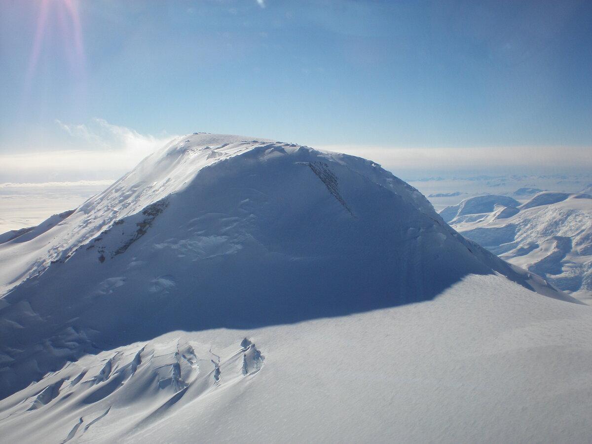 Mt. Don Pedro Christophersen looms over Axel Heiberg Glacier