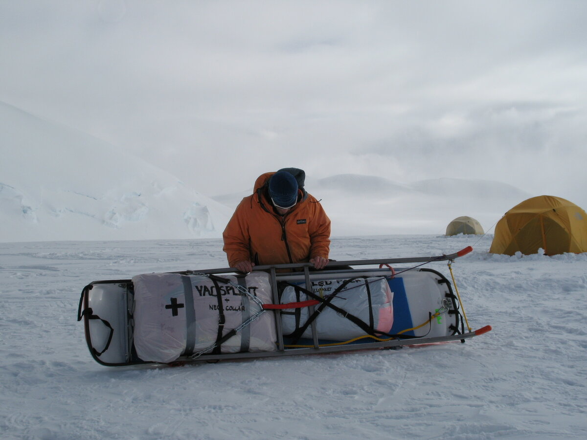 Vinson emergency cache sled