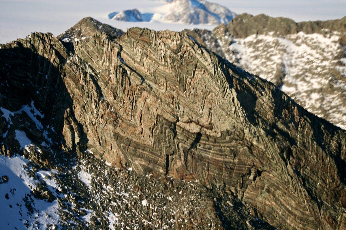 Folded rock layers