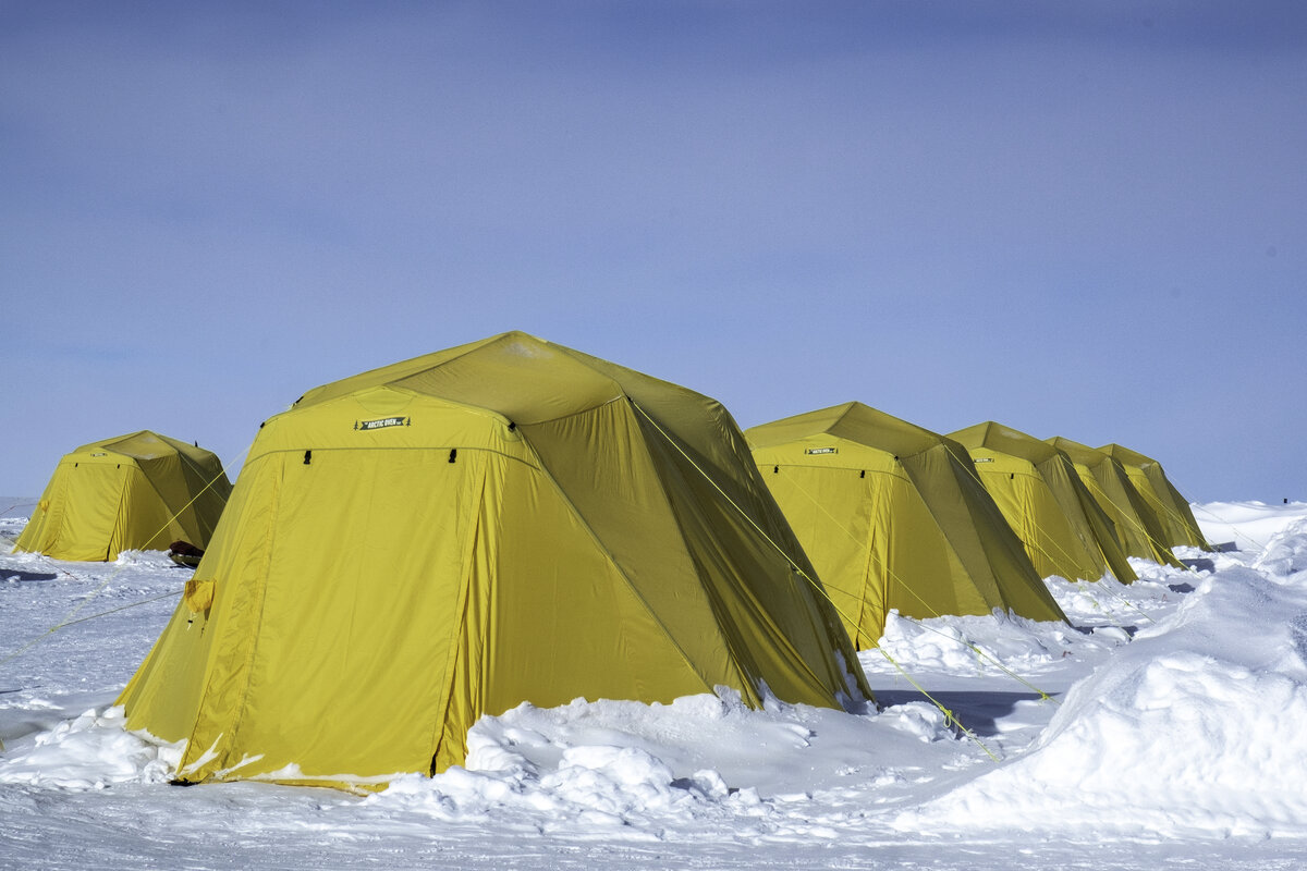 New heated Arctic Oven guest sleeping tents