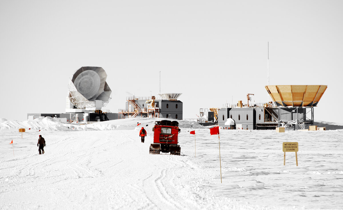 Road to South Pole Telescope and Dark Sector lab