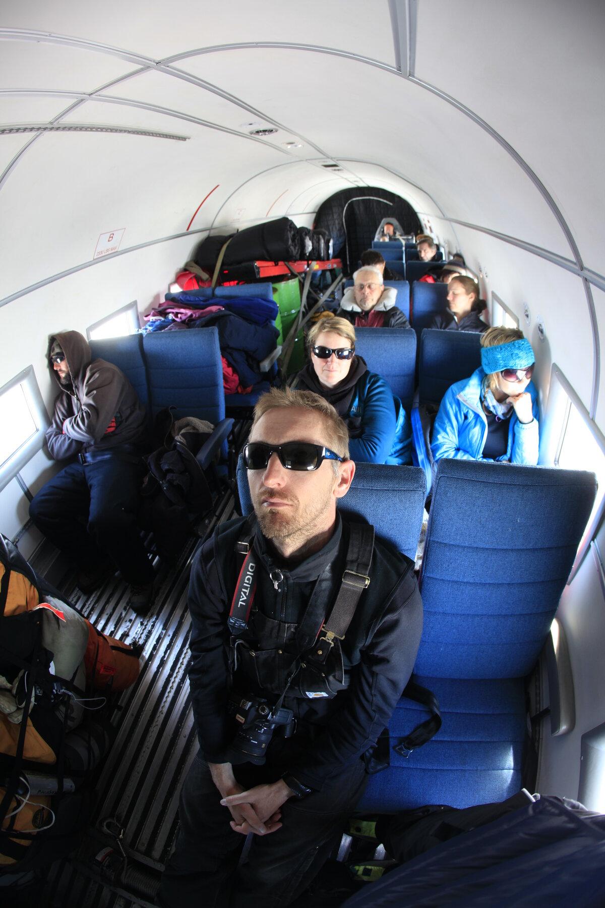 Guests en route to the South Pole via Basler BT-67