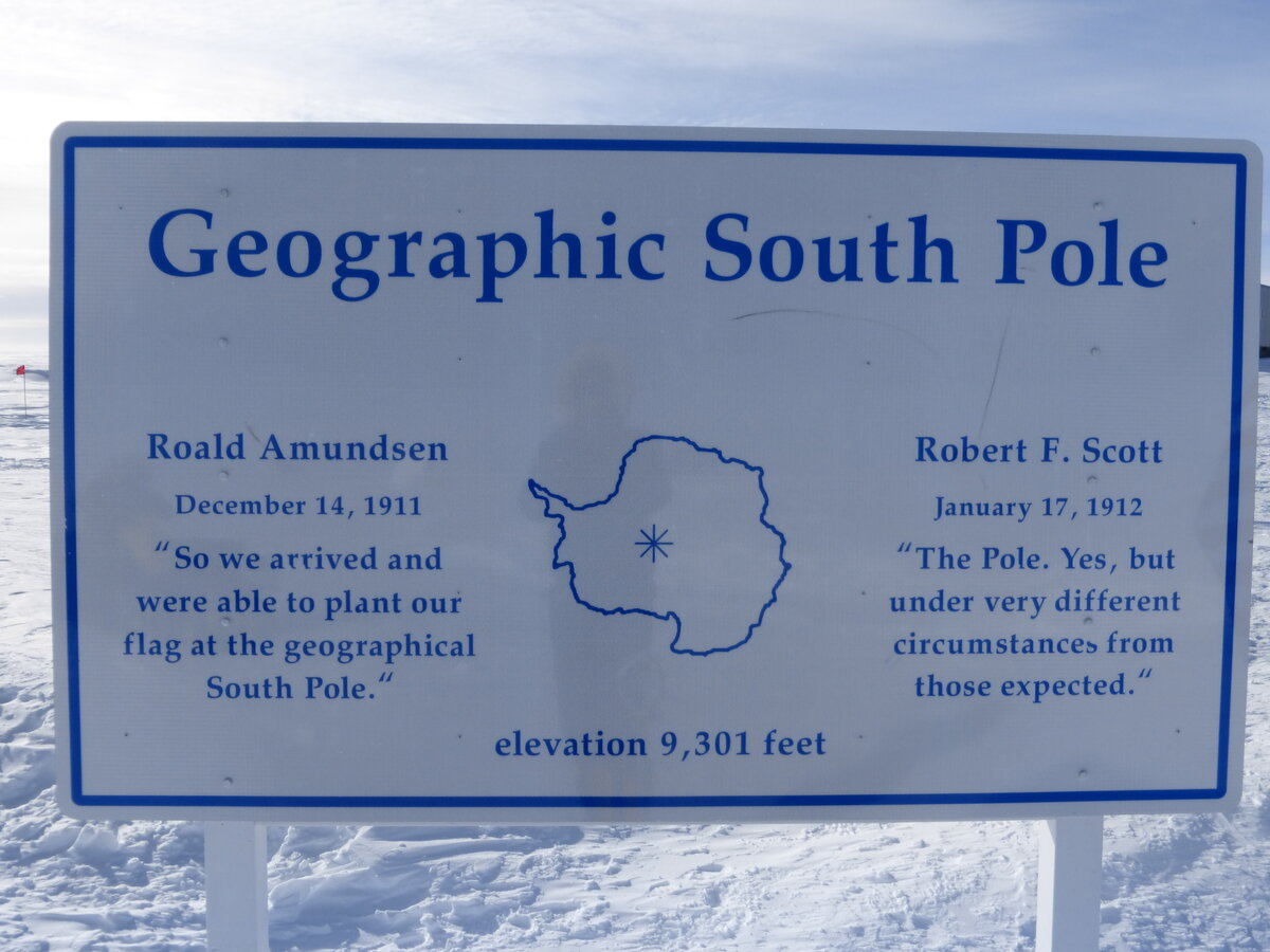 Geographic South Pole Sign