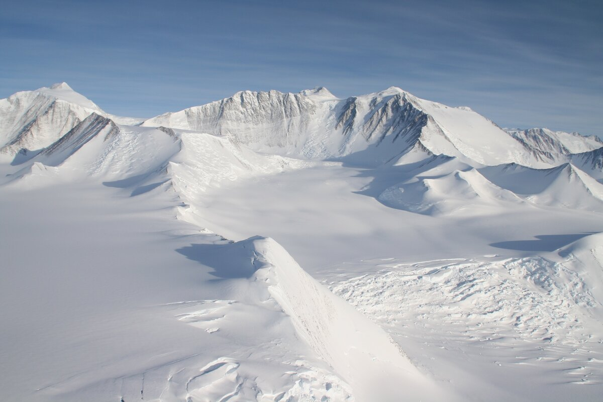 Mount Vinson 16,050 ft (4892m) is Antarctica's highest peak