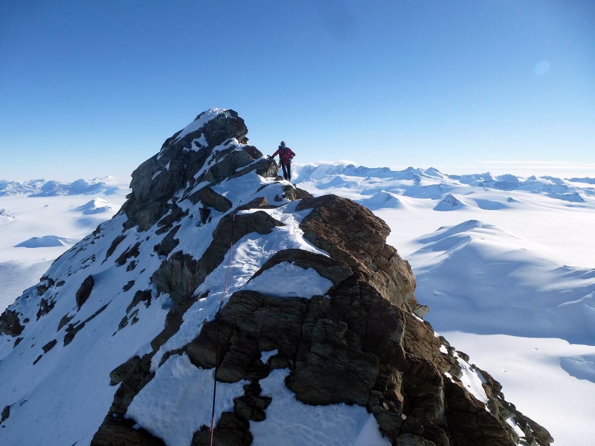 First ascent of Mount Sporli's north summit